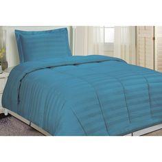 Damask Stripe Comforter Set