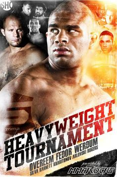 Strikeforce UFC MMA Heavyweight Tournament WGP Grand Prix Fedor Overeem Poster