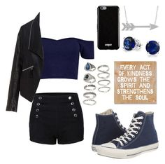 """""""Untitled #266"""" by tychehecateartemishera ❤ liked on Polyvore featuring Zizzi, Converse, Givenchy, Bling Jewelry, Forever 21 and ArteHouse"""