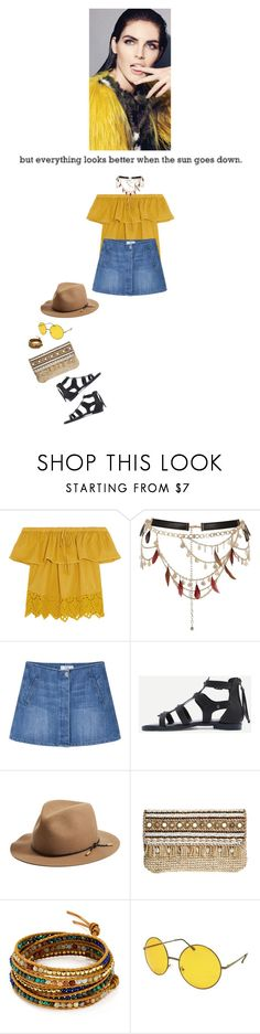"""but everything looks better when the sun goes down."" by agnelija ❤ liked on Polyvore featuring Madewell, River Island, MANGO, rag & bone, Skemo and Chan Luu"