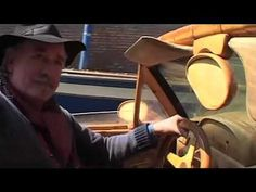 Livio De Marchi is the only man who drives a car in Venice. The artist's has sculpted a full size Ferrari F50 boat out of wood.