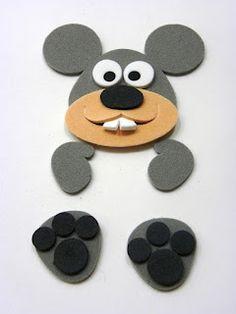 Raton goma eva Foam Crafts, Preschool Crafts, Diy And Crafts, Crafts For Kids, Arts And Crafts, Cd Art, Pencil Toppers, Sunday School Crafts, Animal Crafts