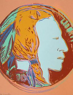 Andy Warhol's 1986 Indian Head Nickel by Numismatic Bibliomania Society, via Flickr