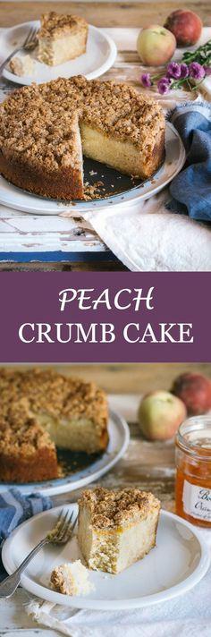 Peach Crumb Cake   prettysimplesweet.com