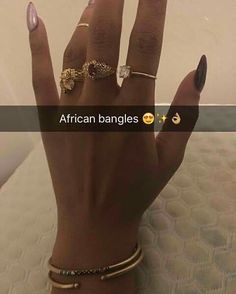 Rings and bangles. Love gold but mostly rose gold