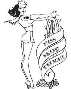 Vintage Pin Up Girl Coloring Pages - Bing images