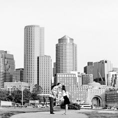 A sunrise engagement session as the city slept, gorgeous light and an adorable couple! CoCo Boardman/Krista Photography www.kristaphoto.com