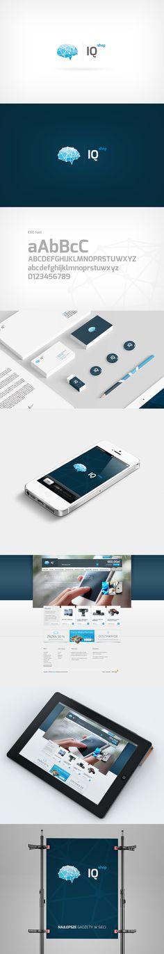 IQ Shop - branding by ~rozmin on deviantART | #stationary #corporate #design #corporatedesign #logo #identity #branding #marketing <<< repinned by an #advertising agency from #Hamburg / #Germany - www.BlickeDeeler.de | Follow us on www.facebook.com/BlickeDeeler