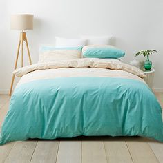 Wood Block Quilt Cover Set