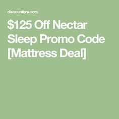 $125 Off Nectar Sleep Promo Code [Mattress Deal]