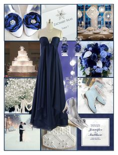 """""""Blue Winter Wedding"""" by allij28 ❤ liked on Polyvore featuring H&M, Reeds Jewelers and Oravo"""