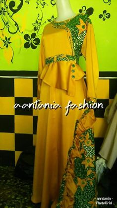 Batik Fashion, Abaya Fashion, Fashion Dresses, Mode Batik, Maxi Dress Wedding, Batik Dress, Hijab Dress, Kebaya, African Fashion