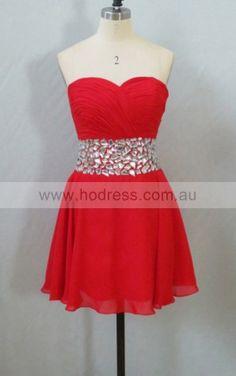 Sweetheart Sleeveless A-line Zipper Short Formal Dresses afea7009--Hodress