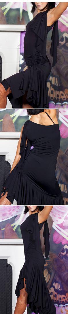 Chrisanne Asymmetric Latin Dance Dress