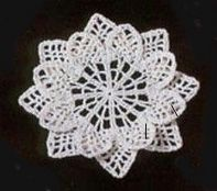 Irish crochet flower + diagram