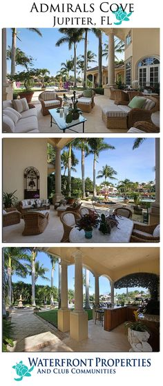Admirals Cove Homes for Sale, Jupiter, FL ◉ re-pinned by  http://www.waterfront-properties.com/jupiteradmiralscove.php