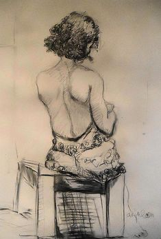'a slight of Ingres'  pencil drawing