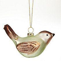 CANVAS Gold Glass Partridge Ornament