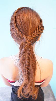 Nos encanta este peinado, y lo mejor es que es muy sencillo de lograr.