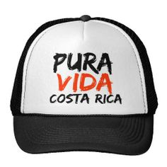 Orange Pura Vida Costa Rica Trucker Hat #costarica #puravida