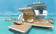 Olesinski 90m concept on Behance | Yacht design, Boat ...