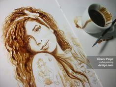 Paintings in this art form are made from coffee, and the aroma of fresh coffee reflects in the freshness of artworks, believe the painters. Description from manishjha.net. I searched for this on bing.com/images