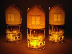 DIY Paper Lanterns using pics of your own house