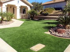Gorgeous front yard from EasyTurf www.easyturf.com l home l outdoor living l artificial turf l fake grass