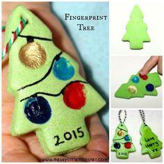 Kerstboompje brooddeeg