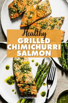 Delicious Salmon Recipes, Grilled Salmon Recipes, Grilled Asparagus, Healthy Grilling, Healthy Food, Grilled Salmon Dinner, Low Carb Menu Planning, Salmon Patties Recipe, Salmon Dishes