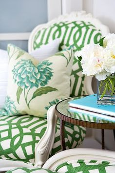 Why can't I find a green patterned chair?  So pretty and so hard to find!