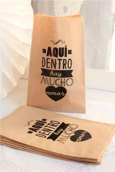 20 Bolsas De Papel Kraft Bodas Eventos Mesas De Dulces - $ 70.00 en Mercado Libre