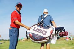 Rickie Fowler and Team USA Olympic golf bag