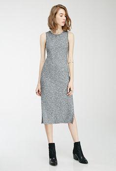 Forever 21 Marled Side-Slit Dress
