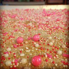 Sprinkles! #feelingsmitten #cupcakes #cupcakecottage #cupcakebathbomb #sprinkles #pink #glitter #gold #white #love