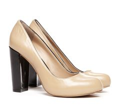 Ava  Block Heel Pump...really feeling the camel and black thing this season for some reason...