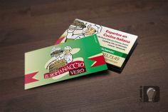 Cliente: Il Romanaccio Vero / Tarjetas de presentación / Propiedad Idea Digital / 2014 / #tarjetas #tarjeta  #bussinescard #card #diseño #diseñográfico #design #graphicdesign #Ventas #creative #art #business #marketing #ideadigital Visítanos en: www.ideadigital.com.ve