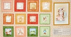 Bunnies By The Bay Fabric Soft Book Quilt Fabric Panel Out Of Print From 2011 High Quality Cotton VIP Exclusives