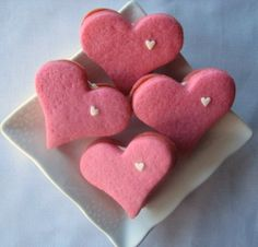 Pretty in Pink Heart Cookie Sandwiches