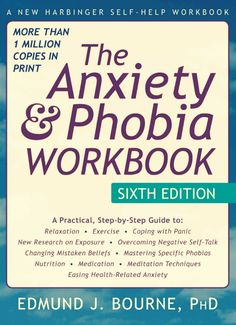 - The Anxiety and Phobia Workbook, by Edmund Bourne  -  Living with anxiety, panic disorders, or phobias can make you feel like you aren't in control of your life. If you're ready to tackle the fears that hold you back, this book is your go-to guide. Packed with the most effective skills for assessing and treating anxiety, this evidence-based workbook contains the latest clinical research. You'll develop a full arsenal of skills for taking charge of your anxious thoughts {affiliate}