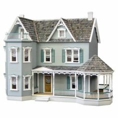 Real Good Toys Glenwood Dollhouse with Curved Stairs  Visit us: missdollhouse.com #dollhouses