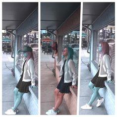 Stussy mesh white jacket and Adidas Stan Smith