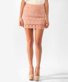 #Forever21                #Skirt                    #Short #Crochet #Skirt #FOREVER21 #2000045597       Short Crochet Skirt | FOREVER21 - 2000045597                                  http://www.seapai.com/product.aspx?PID=1654642