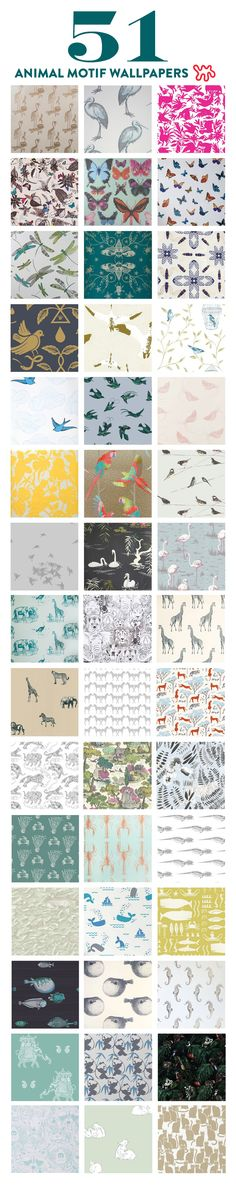 Don't let anyone tell you that animal wallpaper is reserved solely for nurseries and kids' rooms. For both the child and the child-at-heart, we rounded up some light-hearted spaces to peruse, as well as a whopping 51 of our favorite fauna finds.
