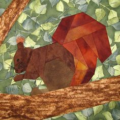 Claudia's Quilts Quilt of Nature ~ ~ Big Squirrels / Squirrel