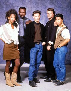 1987-1991 The Original Cast of TV Hitserie 21 Jump Street. What's not to love about youthful-looking police officers who go undercover in high schools? This was not only a star-making gig for Johnny Depp, but original cast members Peter DeLuise, Holly Robinson Peete and Dustin Nguyen comprised a multicultural team that made being responsible and law-abiding cool.