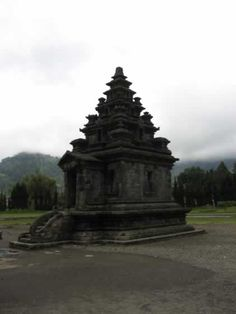 Ancient Hindu temple at Dieng Plateau, Central Java.