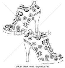 Risultati immagini per disegno scarpe tacco