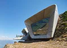 Hufton + Crow's photographs of Zaha's Messner Mountain Museum.