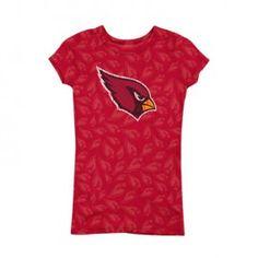 Arizona Cardinals Ladies 'Burnout' Short Sleeve Top